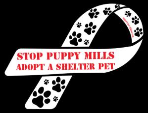 10342-custom-ribbon-magnet-sticker-STOP+Puppy+Mills+++Adopt+a+shelter+pet